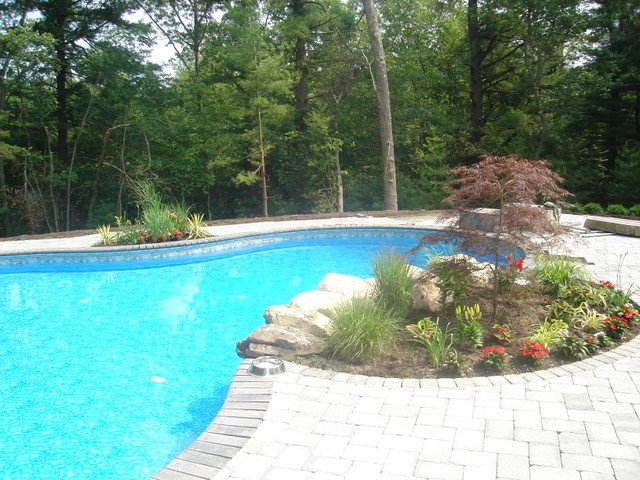 Paver Stone Pool Deck Middleton MA